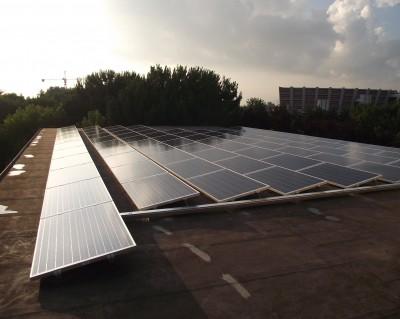 Impianto fotovoltaico su tetto piano 20 kWp