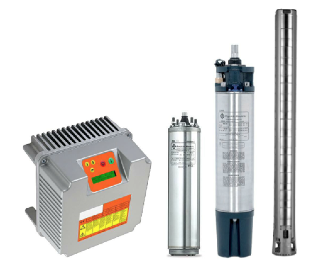 La velocità di rotazione della pompa viene costantemente adattata all' irraggiamento disponibile massimizzando così la quantità d' acqua pompata e rendendo possibile il funzionamento anche in condizioni di scarso irraggiamento.